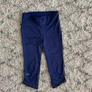 Purple Under Armour workout pants